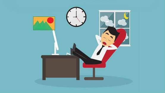 Businessman Procrastinating