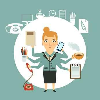 Busy Saleswoman