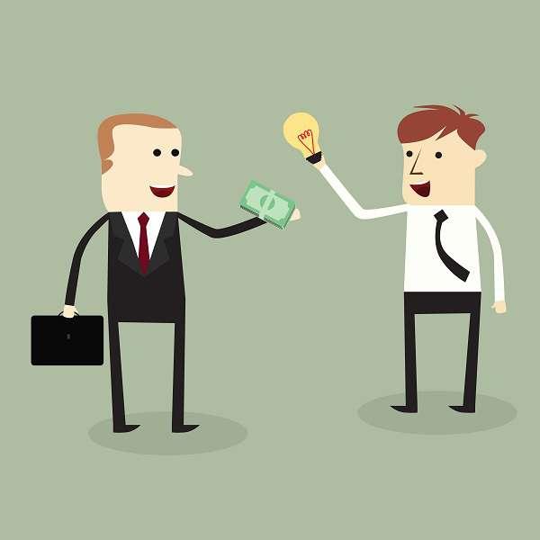 Businessmen trading